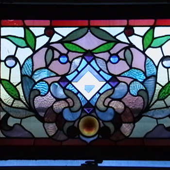1890s Victorian Stained Glass Window - Art Glass