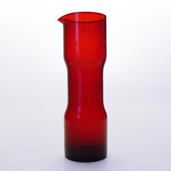 Red jug, unknow designer (Alvesta Glasbruk, 1950s) - Art Glass