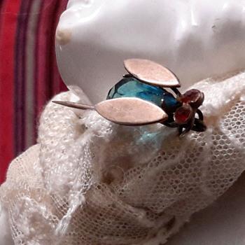 1940s cicada stick pin - Costume Jewelry
