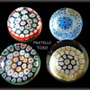 4 Art Glass Paperweights -- All Fratelli Toso -- Murano Art Glass