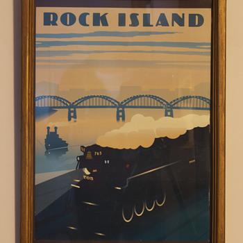 Rock Island RR Art-Deco Print…. - Art Deco