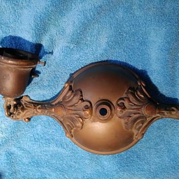 Antique Bronze/Brass light fixture - Lamps