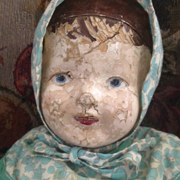 Antique doll; composite head