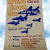 1970s Anti-Vietnam War Original Silkscreened Poster ARMED FARCES DAY Monterey CA