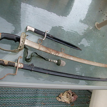 Father-InLaw WWII Swords  - Military and Wartime