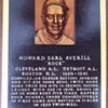 "Baseball HOFer Earl ""Rock"" Averill autographed postcard"