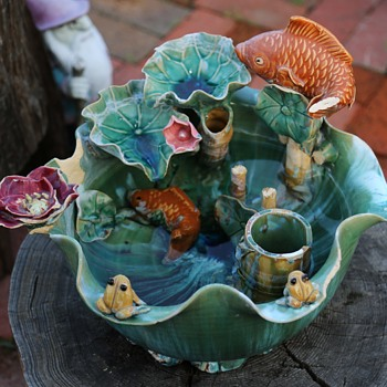 Chinese Majolica Fountain? Fish Bowl? - Asian