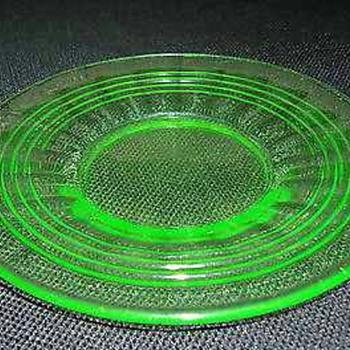 Vaseline Plates - Glassware