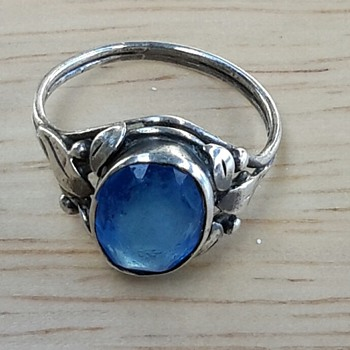 Australian Arts and Crafts blue stone Silver Ring PART 1 - Fine Jewelry