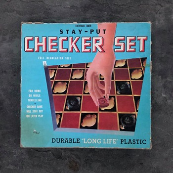 Eberhard Faber Stay-Put Checker Set - Games