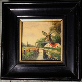 Painted tile?  signed - Fine Art