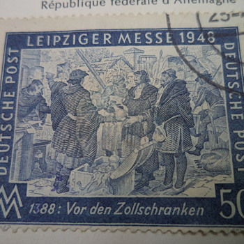 Deutsche Post -50 Pfennig postage stamp