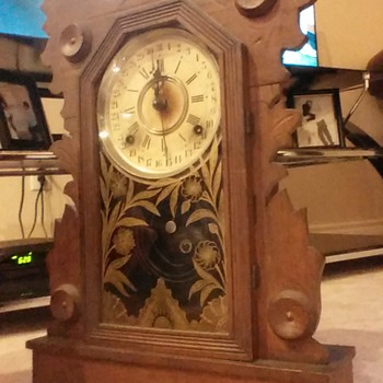Wm. L. Gilbert Clock Co. Antique SWAN Clock 1896
