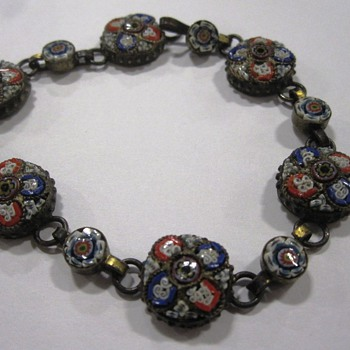 Vintage Glass Bracelet - Costume Jewelry