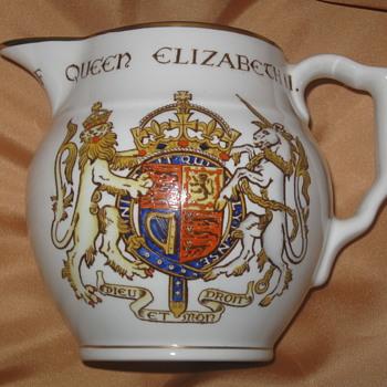 Queen Elizabeth II . . . Coronation Pitcher - Advertising