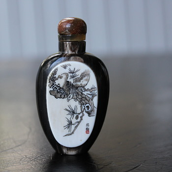Horn and Ivory Snuff Bottle