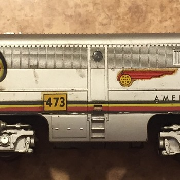 Middle Cars and Engine by American Flyer - Model Trains