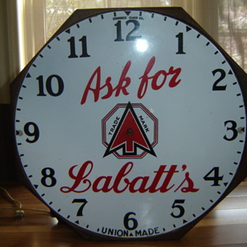 1930's Shonbeck Clock Co.  Hamilton, Ont., for Labatts Beer! - Advertising