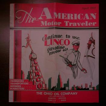 1935 America Motor Traveler Magazine by The Ohio Oil Company - Petroliana