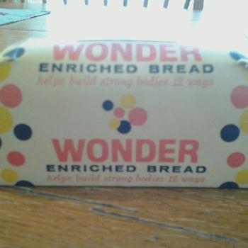 Wonder Bread Cardboard Bank - Coin Operated