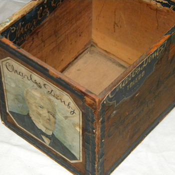 Antique Charles Denby, Toledo OH, Cigar Box - Tobacciana