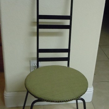 Old Iron and Brass Chair, Circa???? - Furniture