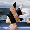 Marble and Onyx Fish Decor