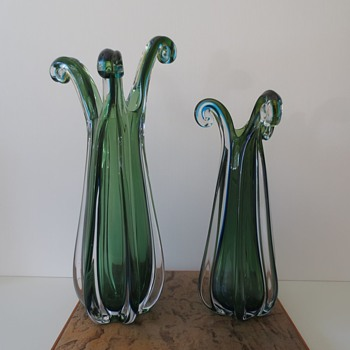 Seaweed Vases from Japan?? - Art Glass