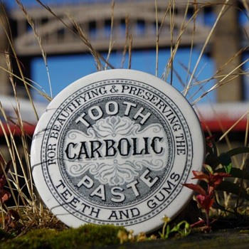 TOOTH PASTE CARBOLIC GENERIC POT LID - Advertising