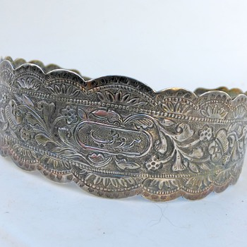 Silver Cuff Bracelet with old Dutch Silver Import Mark - Fine Jewelry