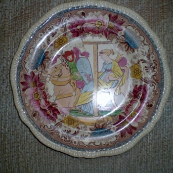 OLD DECORATIVE PLATE - China and Dinnerware