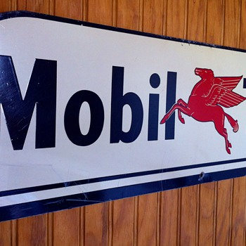 mobil tires sign - Petroliana