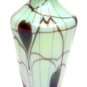 Rare Fenton Hanging Hearts Vase 1925 - Art Glass