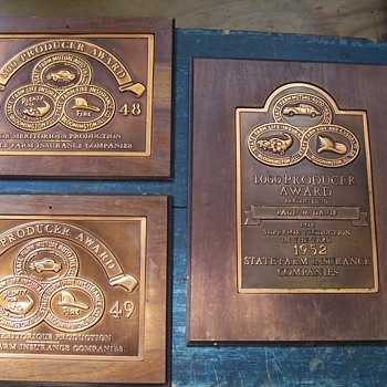 1948, 49 & 52  State Farm Insurance achievement awards - Office