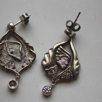 Silver earrings - Costume Jewelry