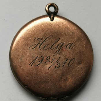 Helgas' Edwardian photo locket  - Fine Jewelry