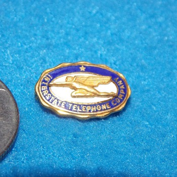 Interstate Telephone Company Service Pin - Telephones