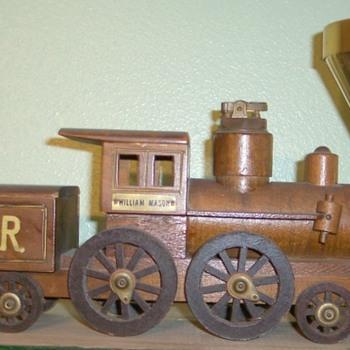 Locomotive Cigarette Holder,lighter and ashtray - Tobacciana