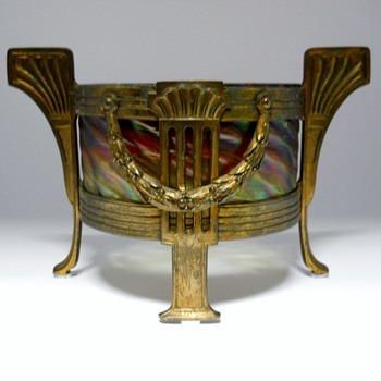Jugendstil-Art Nouveau, Josef Rindskopf's Sohne, Center piece with Brass Mount,c1890-1900 - Art Deco