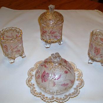 Antique glass tea/coffee set? - Glassware