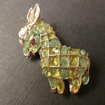 Swoboda donkey brooch  - Fine Jewelry