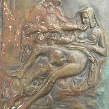 Erotic Plaque no markings, unknown Mfg. or Year Sexual Images - Fine Art