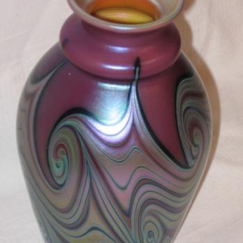 Orient & Flume Art Glass Vase --1976