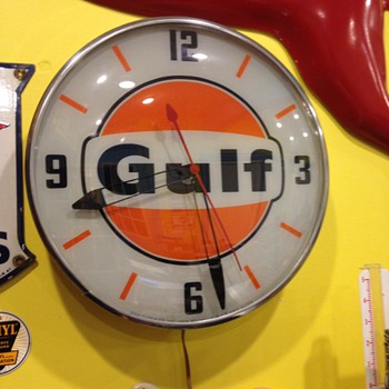 Gulf Pam clock - Advertising