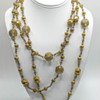 Vintage filigree and glass sautoir necklace.