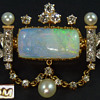 Jaques & Marcus Brooch/Pendant with Opal Intaglio by Wilhelm Schmidt, circa 1890