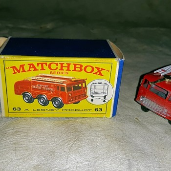 Meticulous Mechanization Matchbox Monday MB-63 Foamite Crash Tender in E1 Box - Model Cars
