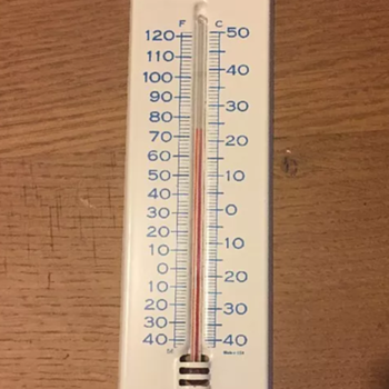 Amtrak thermometer