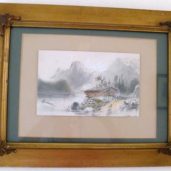 Austrian Alps painting - 1851 - Fine Art