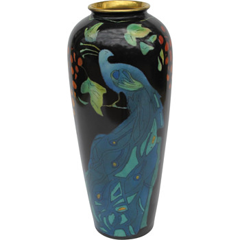 Peacock Vase - Pottery